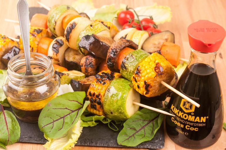 зеленчукови шишчета барбекю BBQ